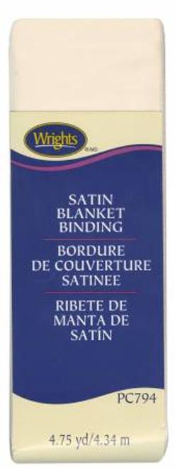 Ivory Satin Blanket Binding (117794810)