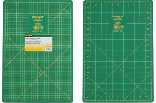 "12in x 18"" Double Sided Green Cutting Mat Omnigrid (18MDS)"