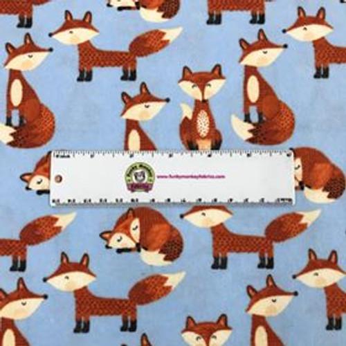 Fox on Blue - AE Nathan Flannel (N0969AE-11)