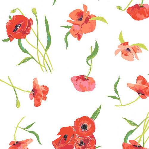 Poppy Reflections - Floralish - Art Gallery Cotton  (FSH-27401)