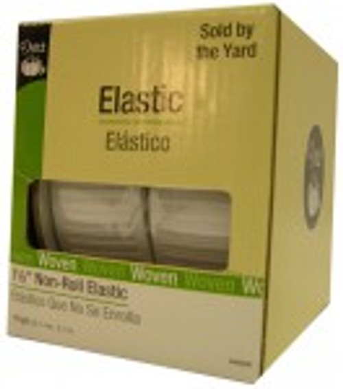 "White Non Roll 3/4"" Elastic - 1/2 yard"