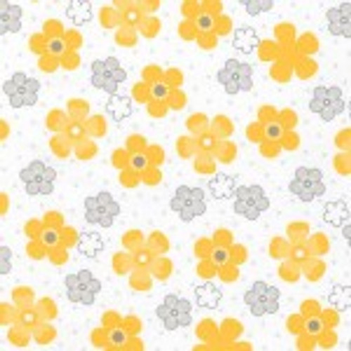 Yellow Flower - Robert Kaufman Flannel  (SRKF155925)
