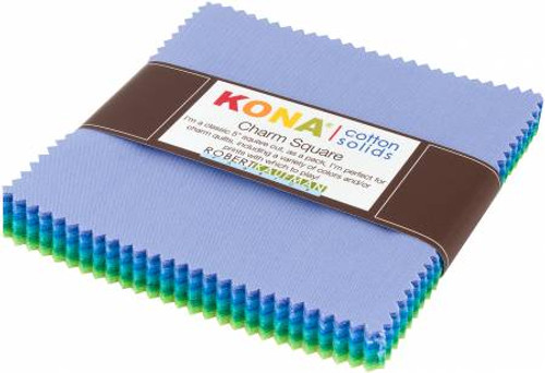 "5"" Squares - Kona Mermaid - 42 Pieces - Robert Kaufman Cotton (CHS-726-42)"