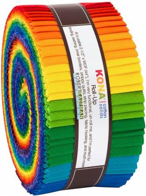 Jelly Roll - Bright Rainbow Palette - 40 pieces - Robert Kaufman Cotton (RU-784-40)