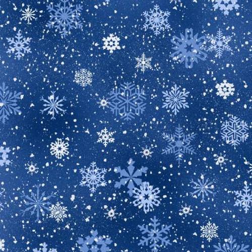 Royal Snowflakes - Elizabeth's Studio Cotton - 1/2 yard (532E-RYL