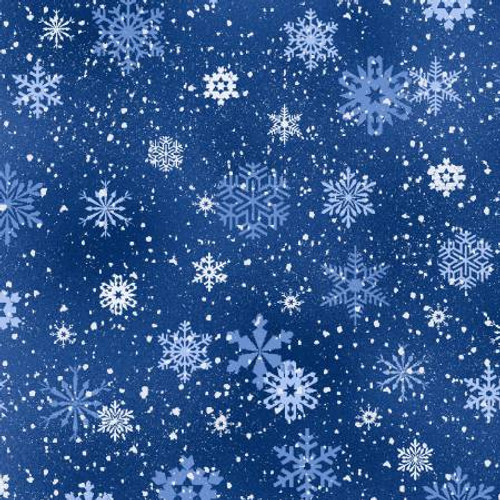 Royal Snowflakes - Elizabeth's Studio Cotton - 1/2 yard (532E-RYL