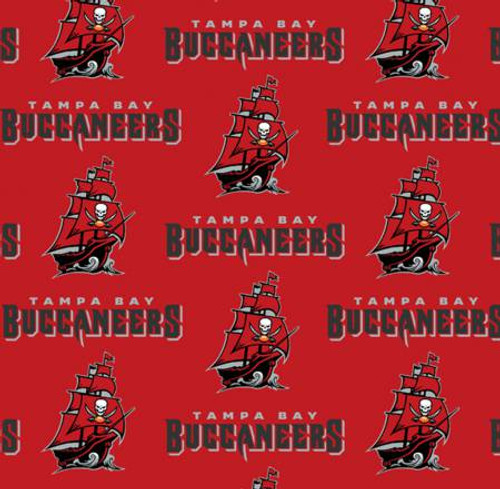 "NFL Tampa Bay Buccaneers 60"" Wide Cotton - 1/2 yard (6488-D)"
