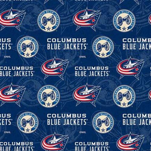 NHL Columbus Blue Jackets - Sykel Enterprises - 1/2 yard