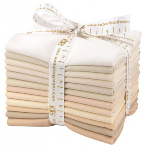 Fat Quarter Bundle Kona Cotton Not Quiet White 12pcs