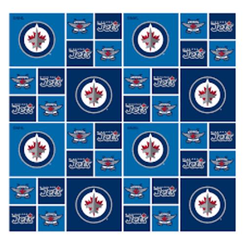 Pre-Order* NHL Winnipeg Jets Cotton - Sykel Enterprises - 1/2 yard