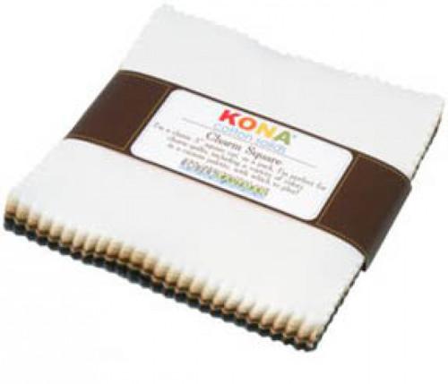 5in Squares Kona Cotton Neutrals Palette 41pcs- Robert Kaufman Cotton