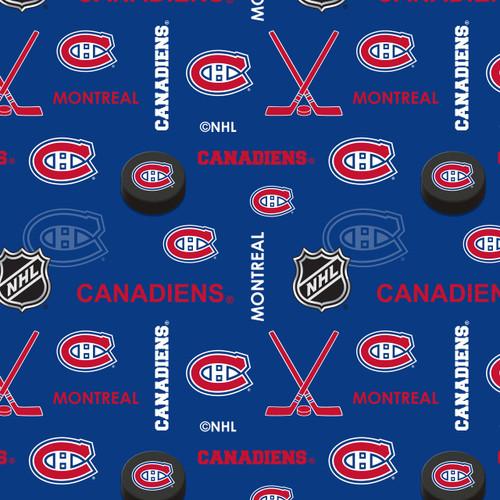 *Pre-Order* NHL Hockey Montreal Canadiens Flannel - 1/2 yard