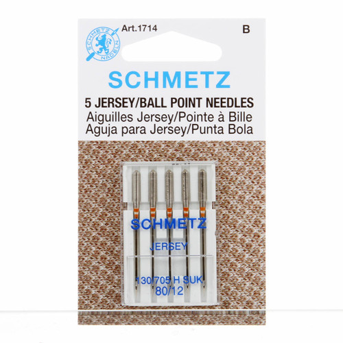 Schmetz Ball Point Machine Needles 12/80 (5 pack)