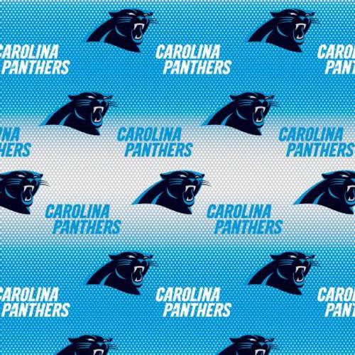 "NFL Blue/White Carolina Panthers 60"" Wide Cotton - 1/2 yard (6867-D)"