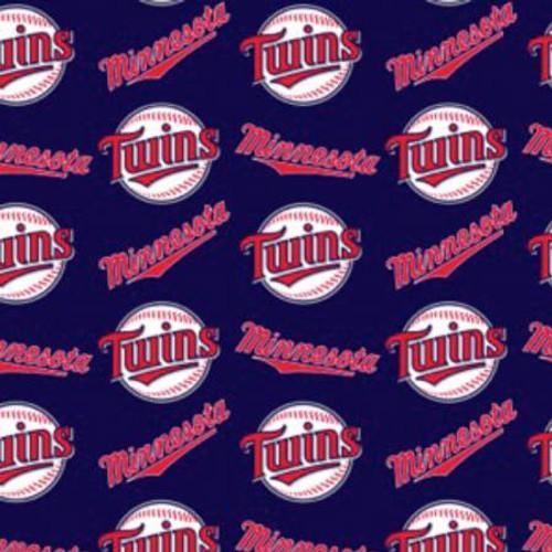 "MLB Minnesota Twins 60"" Wide Cotton - 1/2 yard (6644-B)"