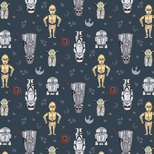 Doodle Figures - Star Wars - Camelot Cotton - 1/2 yard (73010803-02