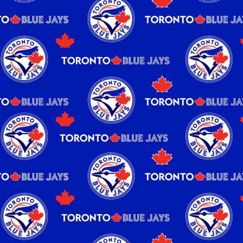 "BOLT BOLT BOLT MLB Toronto Blue Jays 60"" Wide Cotton 10 yard BOLT"