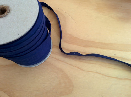 "Navy Double fold Bias Tape 1/2"" - 1/2 yard"