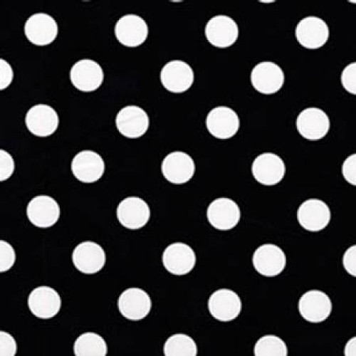 Black with White Quarter Dots - Michael Miller Cotton