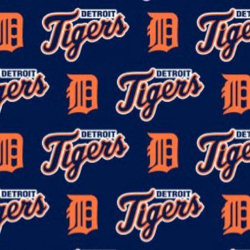 "MLB Detroit Tigers 60"" Wide Cotton - 1/2 yard"
