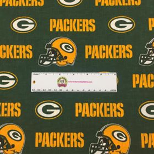 Nfl Green Bay Packers 60 Wide Cotton 1 2 Yard Funky Monkey Fabrics Inc