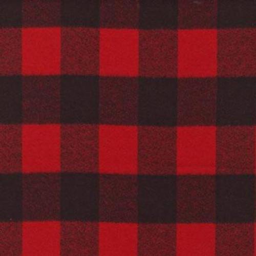 Mammoth Black/Red Plaid - Robert Kaufman Flannel - 1/2 yard