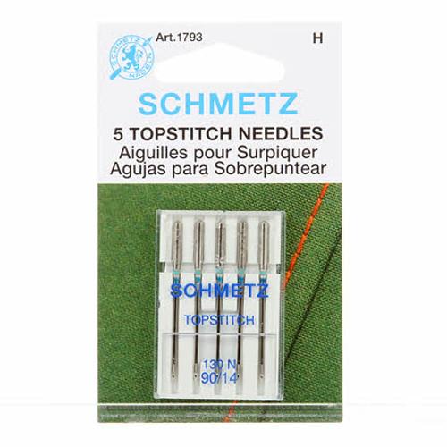 Schmetz Top Stitch 90/14 Sewing Machine Needles (5 pack)