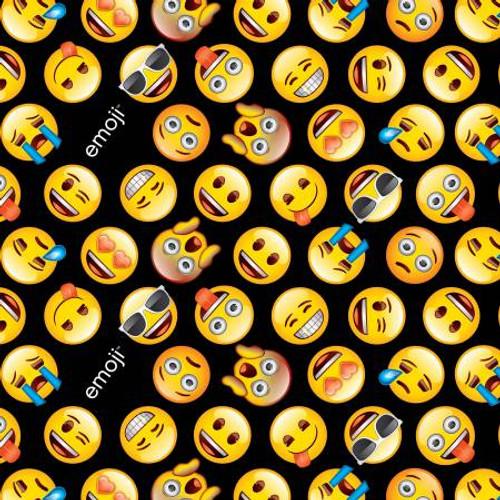 Emoji on Black - David's Textiles Cotton