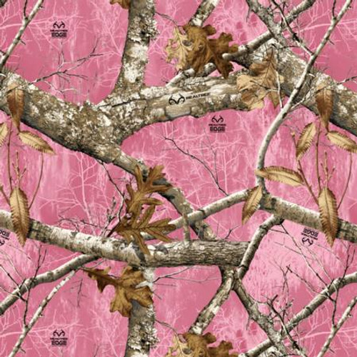 Pink Real Tree Camo - David Textiles Cotton - 1/2 yard (RT00019C1)
