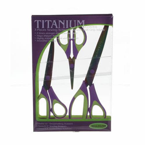 Set of 3 Titanium Coated Scissors