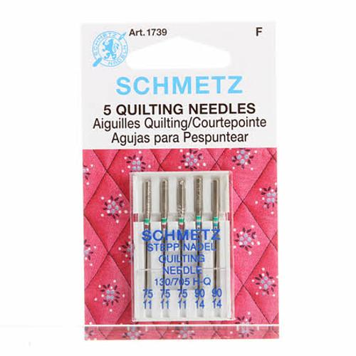 Schmetz Quilting Machine Needle Sizes 11/75 & 14/90 (5 pack)