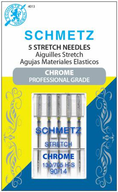 Chrome Stretch Schmetz Needles 90/14 (5 pack)