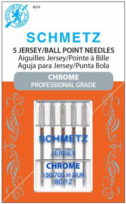 Chrome Jersey Schmetz Needles Size 80/12 (5 pack)