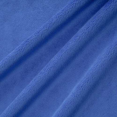 Electric Blue Smooth - Shannon Fabrics Cuddle Minky - 1/2 yard