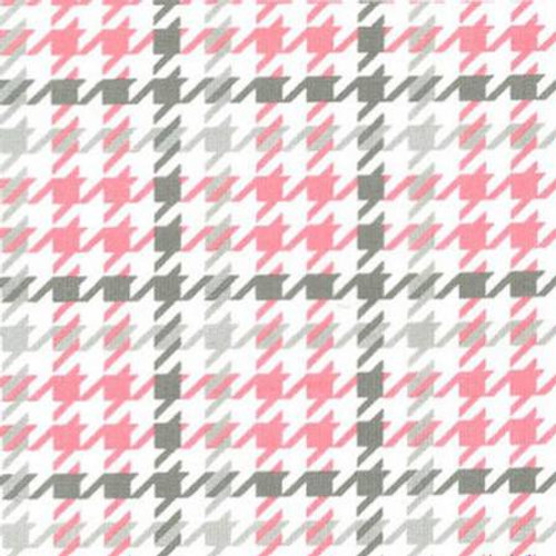 Bubblegum Houndstooth - Robert Kaufman Flannel - 1/2 yard