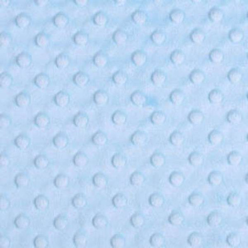 Baby Blue Dimple Minky - 1/2 yard