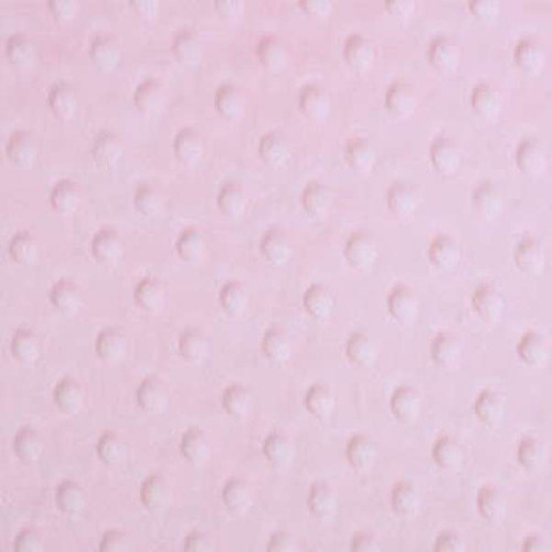 Baby Pink Dimple Minky - 1/2 yard