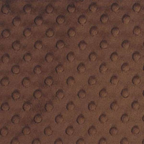 Brown Dimple - Shannon Fabrics Cuddle Minky - 1/2 yard