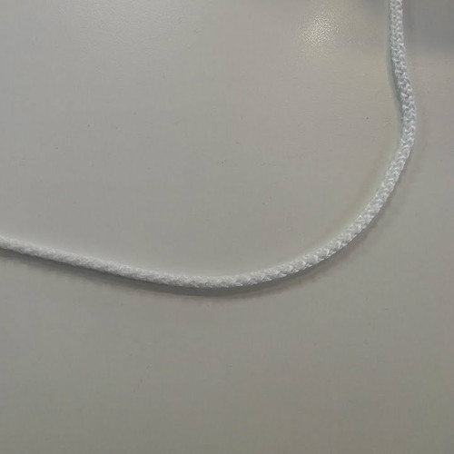 "1/4"" White Braided Polypro Cord - 1/2 yard"