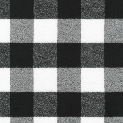 Mammoth Black/White Plaid  - Robert Kaufman Flannel - 1/2 yard