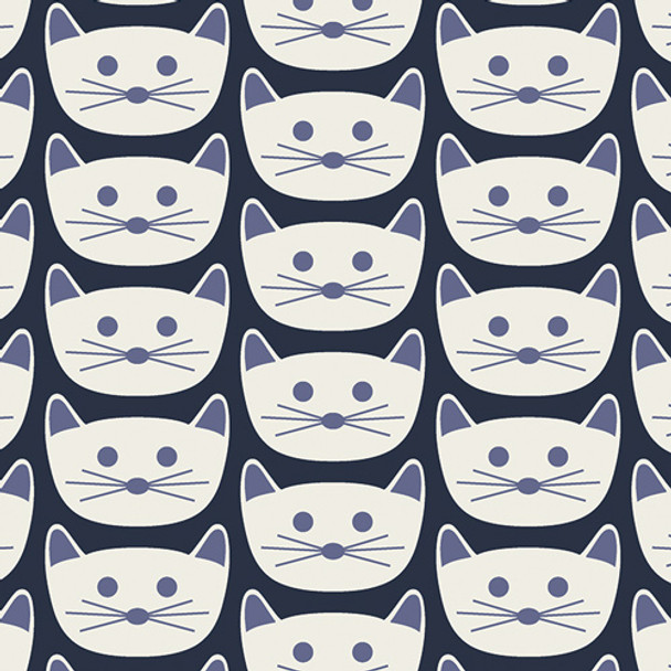 Cat Nap District - Art Gallery Cotton - 1/2 yard
