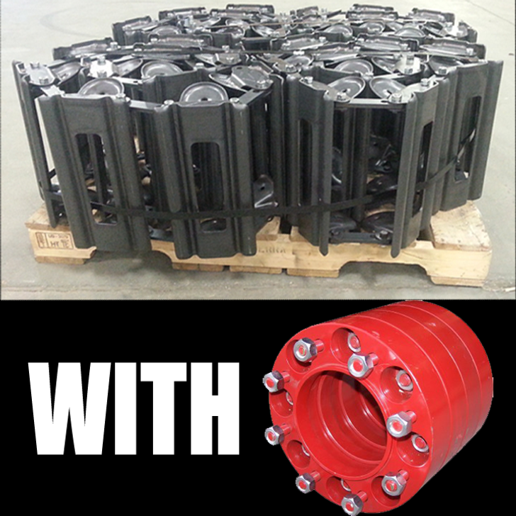 """COMBINED Track w/ Spacers (Fits 12"""" x 16.5"""" tire) - T-1200B/38 w/ SP-RED8 (8 LUG)"""