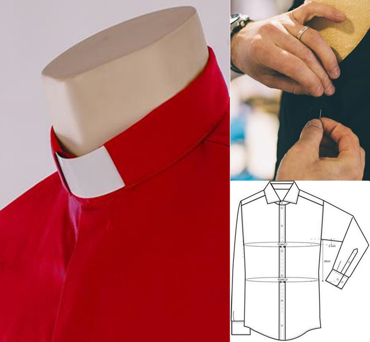 Made to Measure Tunnel Collar Clergy Shirt - in Easycare Polycotton