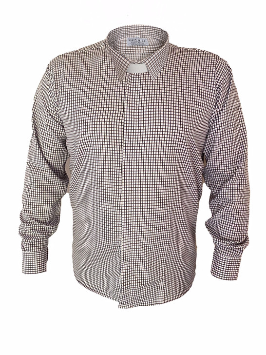 Men's Classic Fit Standard Collar Clergy Shirt in 100% Cotton