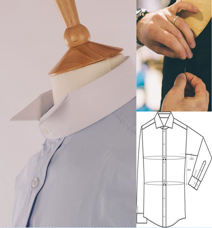 Made to Measure Barrister Court Shirt - in Easycare Polycotton