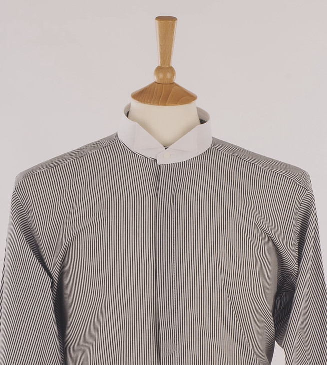 Men's Black & White Stripe Court Shirt - Montgomery