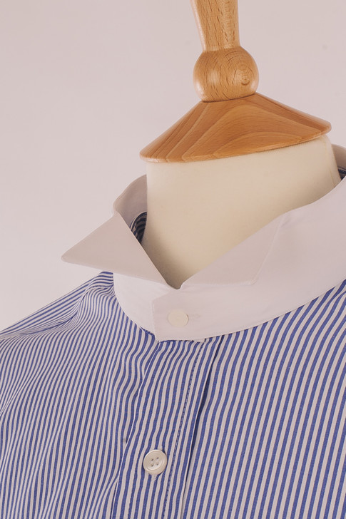 Blue Stripe Court Shirt - Inishowen