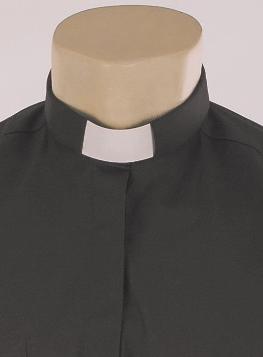 Woman's 100% Cotton Tunnel Collar Clergy Shirt