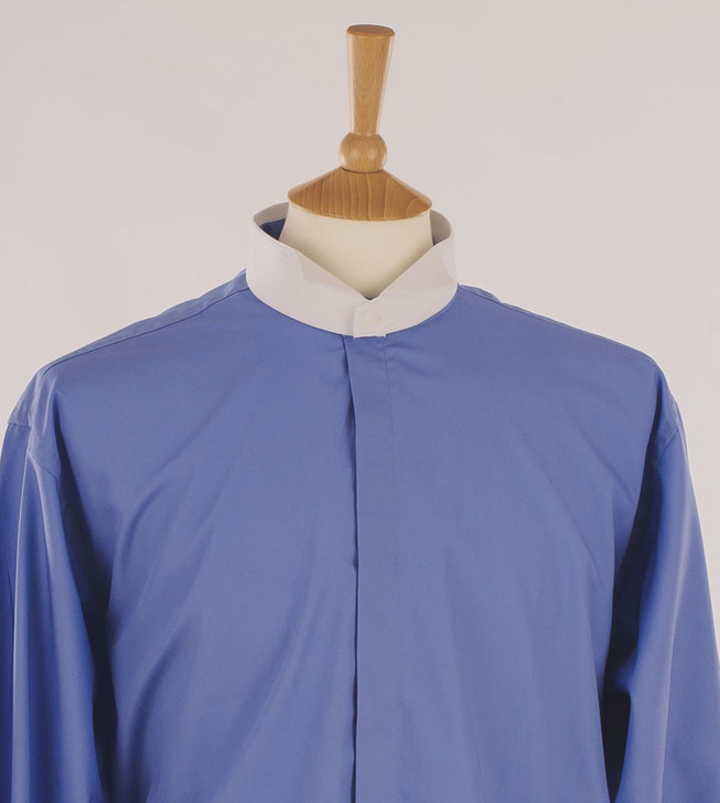 Men's Ocean Blue Court Shirt in 100% Egyptian Cotton
