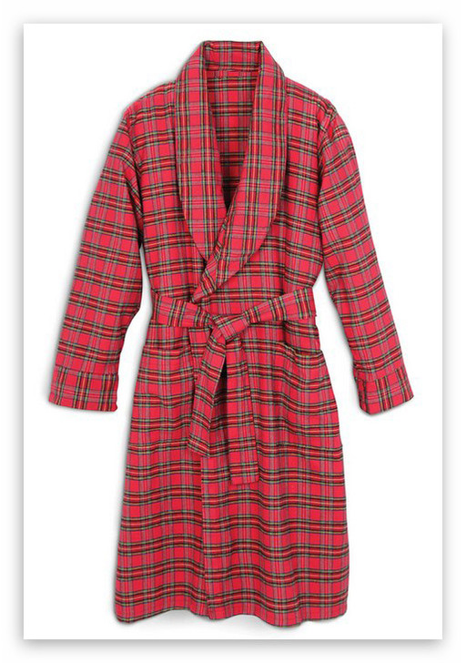 Irish Flannel Dressing Gown - Softest Brushed Cotton